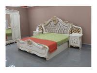 Dia кровать двуспальная 180х200 с п/механизмом (крем, золото) Джоконда