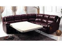 Nomec диван угловой раскладной кожа 9219 (баклажан) ЕА42