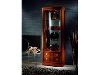 Mudeva витрина 1 дверная  (черешня) Coleccion 2000