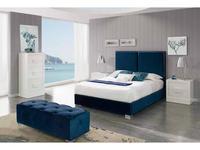 Dupen кровать двуспальная 160х200 (синий) Andrea