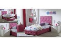 Dupen кровать односпальная 105х200 с подъемным мех-м (экокожа) Raquel