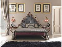 Cafissi кровать двуспальная 180х200  Gruppo II  экокожа (красный, золото) Bellosguardo
