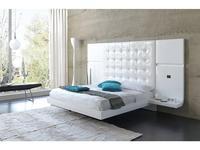 Fenicia Mobiliario кровать двуспальная с 2 прикроватными тумбами (белый, бежевый) Fenicia