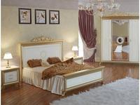 Мэри кровать двуспальная 160х200 с короной на изголовье (слоновая кость) Версаль