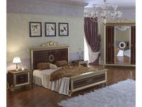 Мэри кровать двуспальная 160х200 (орех) Версаль