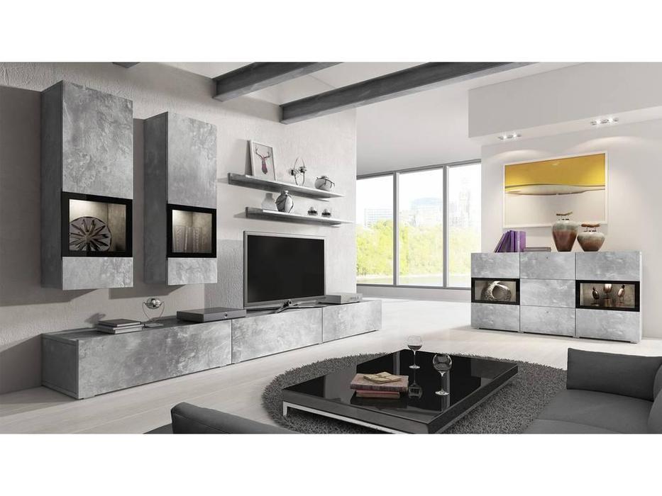 Helvetia гостиная современный стиль  (бетон, серый) Baros