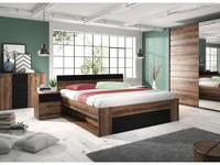 Helvetia кровать двуспальная 160х200 (дуб монастырский) Beta