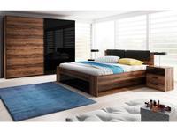 Helvetia кровать двуспальная с ящиком 160х200 (орех, черный) Galaxy