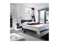 Helvetia кровать двуспальная 160х200 c 2 тумбочками (белый,орех) Vera