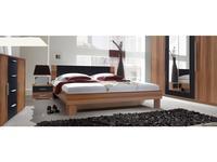 Helvetia кровать двуспальная 180х200 с 2 тумбами (орех красный) Vera