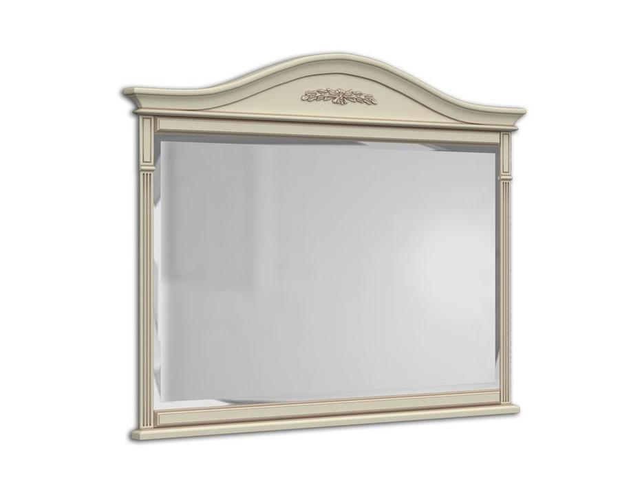 Arco зеркало навесное  (белый, патина) Прованс