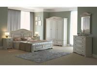 Arco спальня классика  (белый, патина- коричневая) Esperansa