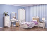 Arco спальня классика 90 (белый, патина) Прованс