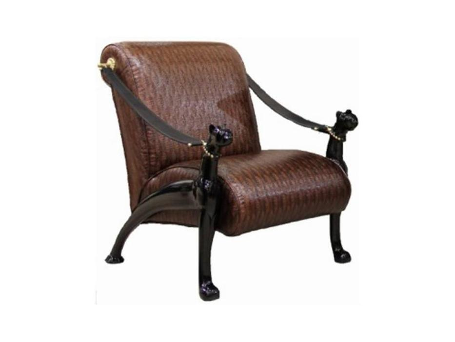 Zzibo Mobili кресло  (орех, ткань) Пантера