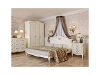 LAtelier Du Meuble кровать двуспальная 160х200 (слоновая кость, золото) Romantic Gold