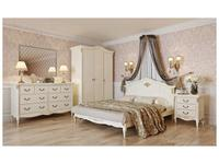 LAtelier Du Meuble кровать двуспальная 180х200 (слоновая кость, золото) Romantic Gold