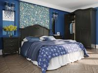 LAtelier Du Meuble кровать двуспальная 160х200 (черный со старением) Nocturne