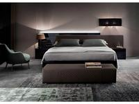 Rossetto кровать двуспальная 160х200 (ebony, grigio) Nightfly