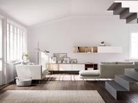 Treku гостиная современный стиль  (дуб, белый) Aura