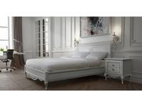 БМ кровать двуспальная  (белый, серебро) Неаполь