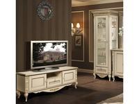 БМ тумба под телевизор  (ваниль, золото) Неаполь
