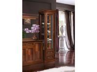 БМ витрина 1 дверная левая (орех) Палермо