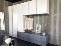 Vanguard Concept шкаф с комодной частью и навесными шкафами (лак матовый) Helsinki
