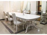 Юта стол обеденный раскладной (белый, патина) Альт