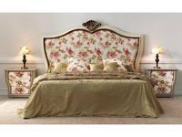 Zache кровать двуспальная 160х200 с капителью (слоновая кость, золото) Victoria