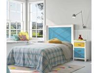 Grupo Seys кровать односпальная 90х200 (синий) Cerdena
