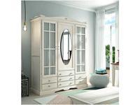 Grupo Seys шкаф 3 дверный с зеркалом (белый) Decco
