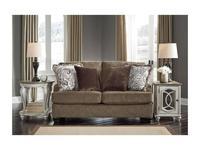 Ashley диван 2 местный  (коричневый) Braemer