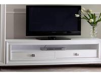 Mmobili тумба под телевизор  (белый с патиной) Pitti