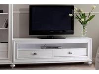 Mmobili тумба под телевизор на ножках (белый с патиной) Pitti