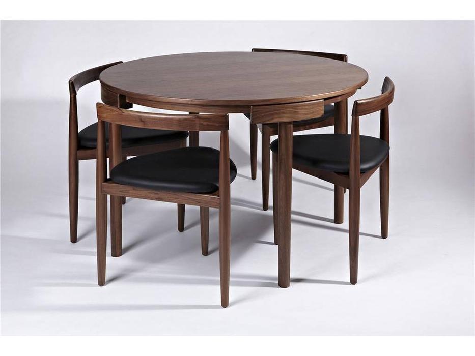 Vacso стол переговорный со стульями (тёмный орех) Velton