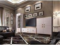 ЯМ стенка в гостиную  (слоновая кость, золото) Римини