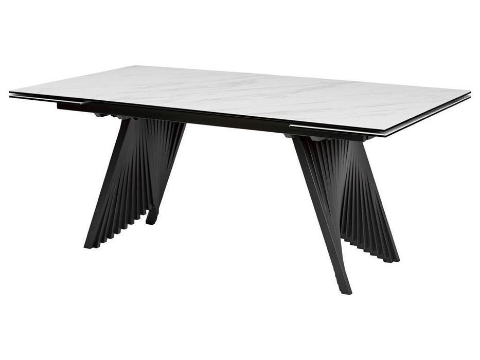 Megapolis стол обеденный раскладной (белый, черный) Ivar