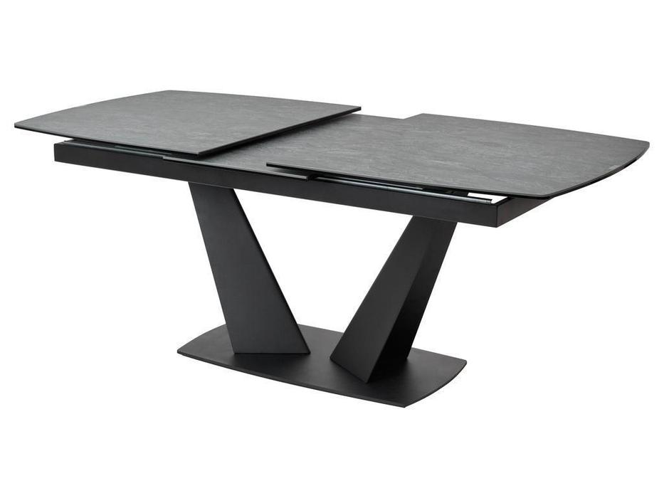 Megapolis стол обеденный раскладной (темно-серый, черный) ACUTO2