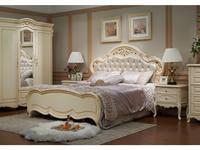 HFI кровать двуспальная 180х200 (слоновая кость) Милано