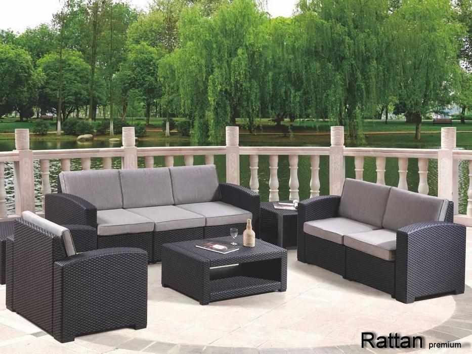 Rattan лаунж зона Premium 5 (венге) Premium