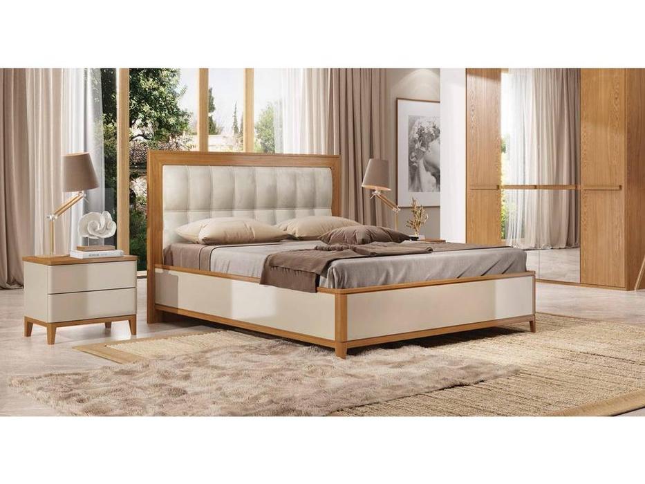 ММ кровать двуспальная 180х200 (орех, мокко) Модена