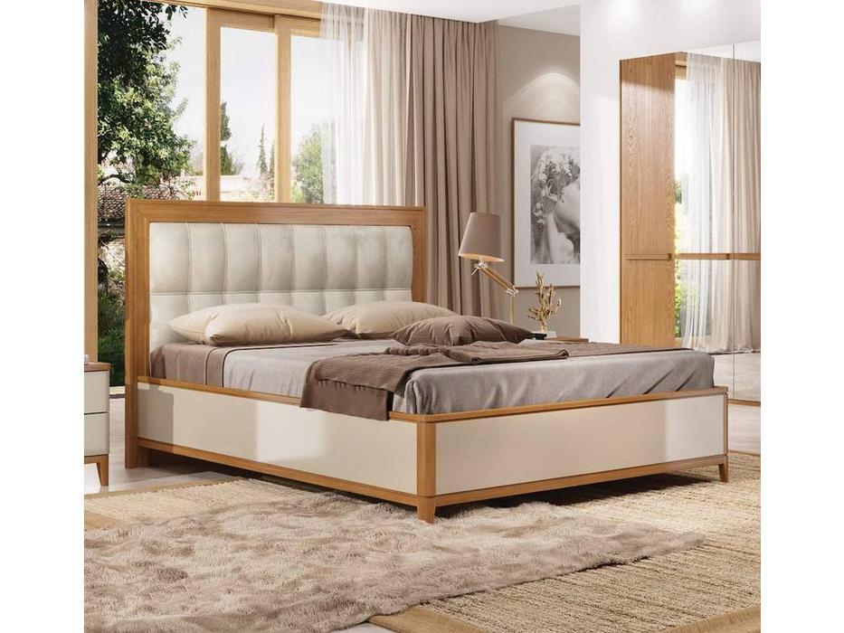 ММ кровать двуспальная 180х200 с подъемным мех-м (орех, мокко) Модена