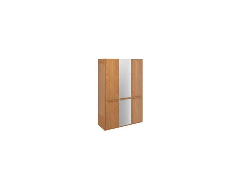 ММ шкаф 3 дверный с зеркалом (орех) Модена