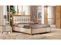 ММ кровать двуспальная 160х200 с подъемным мех-м (орех, мокко) Модена