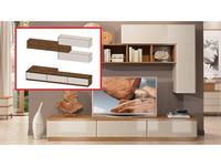 ММ стенка в гостиную композиция №3 (орех, мокко) Модена
