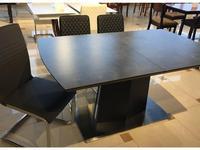 HFI стол обеденный раскладной (графит) Ceram