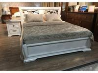 Liberty-M кровать двуспальная 180х200 с резным изголовьем (белый) Палермо
