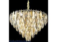 Wertmark люстра подвесная  (белое золото, хрусталь) Orlanda