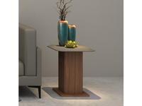 Mod Interiors столик приставной  (орех, серый) Avila