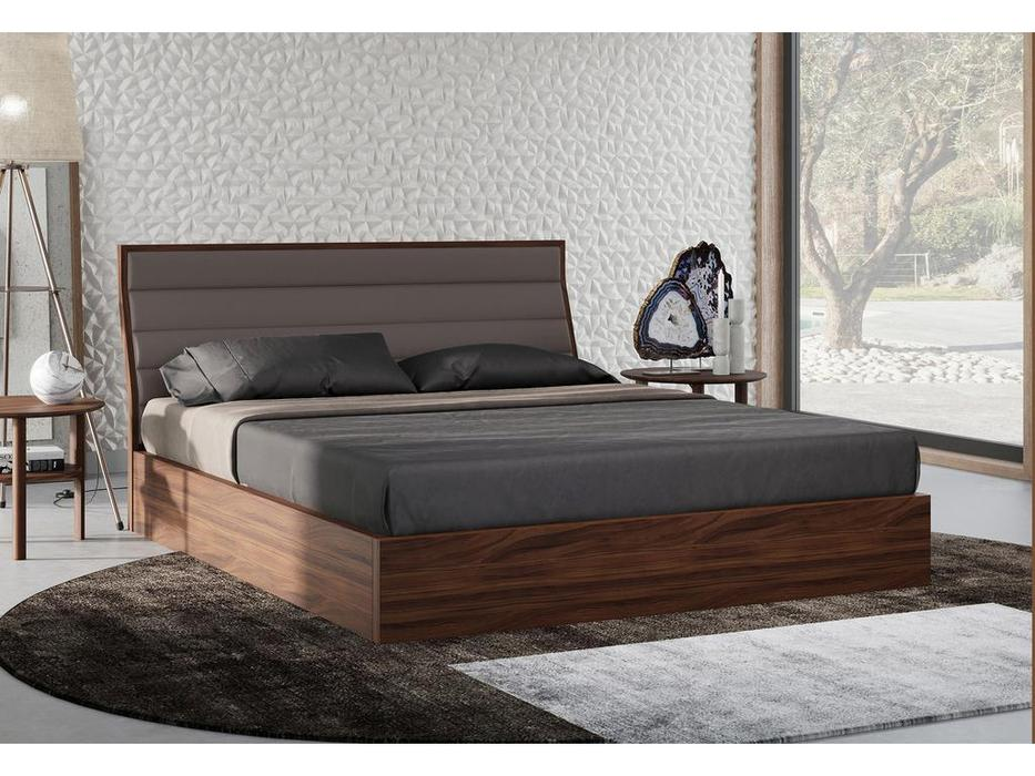 Mod Interiors кровать 160х200 c подъемным механизмом (орех) Ronda